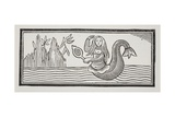 A Mermaid, Which Betokens Destruction to Mariners, Illustration from 'Chap-Books of the?