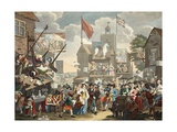 Southwark Fair, 1733, Illustration from 'Hogarth Restored: the Whole Works of the Celebrated?