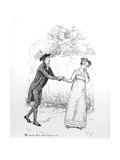 So Much Love and Eloquence', Illustration from 'Pride and Prejudice' by Jane Austen, Edition?