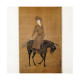 A Chinese View of a European Lady Riding a Horse
