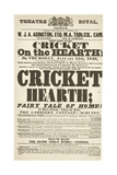 Dickens Playbill: 'The Cricket on the Hearth' at Theatre Royal, Derby, January 15th, 1846