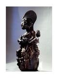 A Shrine Figure for Orisha Oko, the Deity Associated with Farming, Depicting a Woman with a?