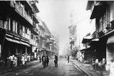 Borah Bazaar Street, Bombay, C.1870s