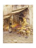 A Fruit Stall at the Base of the Campanile, San Giovanni Elemosinario, Near the rialto, Venice