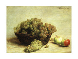 Still-life, Raisins and Apples in a Basket