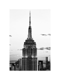 Top of Empire State Building, Manhattan, New York, White Frame, Full Size Photography