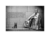 Statue of Franklin Roosevelt with His Dog, Memorial Franklin Delano Roosevelt, Washington D.C
