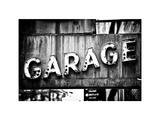 Garage Sign, W 43St, Times Square, Manhattan, New York, White Frame, Full Size Photography