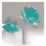 Aqua Platinum Petals II