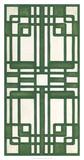 Non-Embellished Emerald Deco Panel II