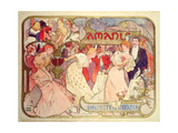 Poster Advertising 'Amants', a Comedy at the Theatre De La Renaissance, 1896