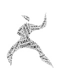 Karate Pictogram On White Background