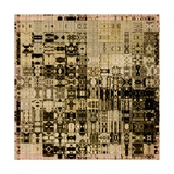 Art Abstract Vibrant Geometric Pattern Background In Black, Sepia And Brown Colors