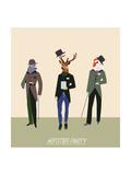 Vintage Hipsters Trendy Illustration