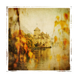 Autumn Castle - Artistic Retro Styled Picture