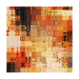 Art Abstract Rainbow Geometric Pattern Background In Red Color