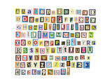 Newspaper, Magazine Alphabet With Letters, Numbers