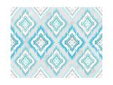 Abstract Geometric Seamless Aztec Pattern. Colorful Ikat Style Pattern