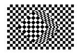 Black And White Cube Optical Illusion