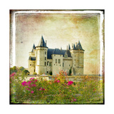 Medieval Castle - Retro Style Picture With Artistic Border