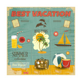 Summer Card In Retro Style