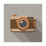 Flat Long Shadow Retro Camera Icon