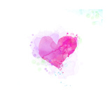 Painted Watercolor Heart