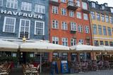 Crowds at Cafes and Restaurants, Nyhavn, Copenhagen, Denmark