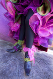 Woman's Legs and Shoes Dressed for Carnival, Venice, Italy