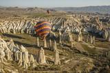 Aerial View of Hot Air Balloons, Cappadocia, Central Anatolia, Turkey