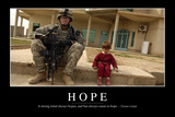 Hope: Inspirational Quote and Motivational Poster