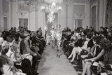 A Girl Modeling in a Metallic Dress at Palazzo Pitti