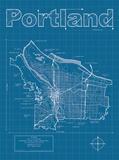 Portland Artistic Blueprint Map