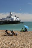 Beach and Pier, Eastbourne, East Sussex, England, United Kingdom, Europe