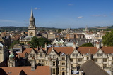 Cityscape from University Church, Oxford, Oxfordshire, England, United Kingdom, Europe