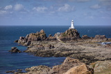 Corbiere Lighthouse and Rocky Coastline, Jersey, Channel Islands, United Kingdom, Europe