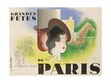 Grandes Fetes De Paris, 1934 French Travel and Tourism Poster