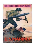Go over the Top with the U.S. Marines Recruitment Poster