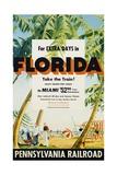 Florida, Pennsylvania Railroad Poster