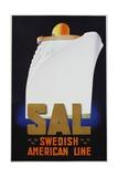 Swedish American Line Poster