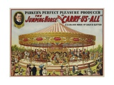 "The Jumping Horse """"Carry-Us-All"""" Carnival Poster"