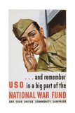 And Remember Uso Is a Big Part of the National War Fund Poster