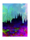 Prague Watercolor Skyline