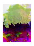 Dublin Watercolor Skyline