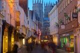Colliergate and York Minster at Christmas, York, Yorkshire, England, United Kingdom, Europe