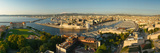 High Angle View of a City with Port, Marseille, Bouches-Du-Rhone, Provence-Alpes-Cote D'Azur