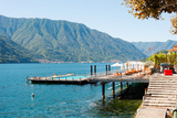 Sundeck and Floating Pool at Grand Hotel, Tremezzo, Lake Como, Lombardy, Italy