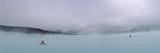 Tourist Swimming in a Thermal Pool, Blue Lagoon, Reykjanes Peninsula, Reykjavik, Iceland