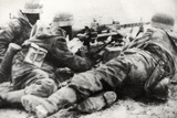 German Soldiers with MG42 General Purpose Machine Gun on a Tripod Mount