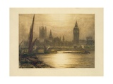 Color Etching of Westminster